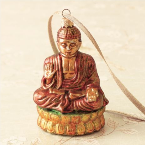 Gumps Buddha Ornament asian holiday decorations