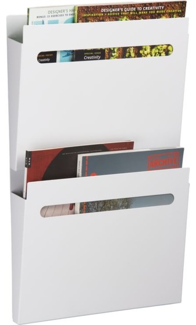 White File File modern magazine racks