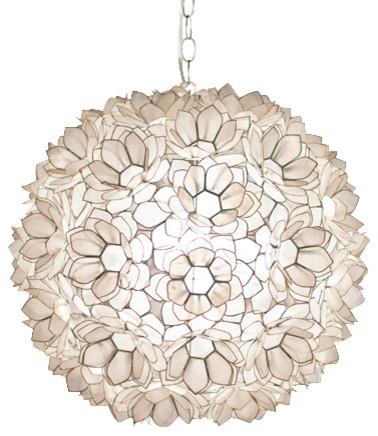 Capiz Shell Floral Jupiter Pendant contemporary-pendant-lighting