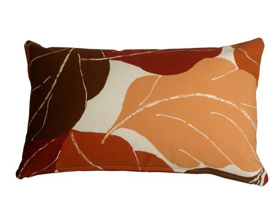 Pillow Decor - Pillow Decor - Autumn Leaves 12 x 20 Red Throw Pillow - Add bold color and nature to your decor with the Fallen Leaves Decorative Throw Pillow in brown. The multiple shades of color in this pillow are equally balanced, giving you the flexibility to pull together several accent colors within your space.