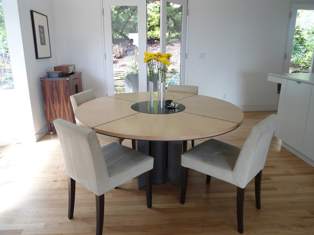 Modern Dining Room Table With Lazy Susan Modern Dining Tables Seattle