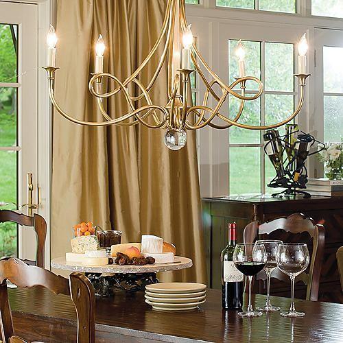 Twist Chandelier traditional-chandeliers