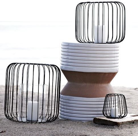 Wire Lanterns contemporary-outdoor-lighting