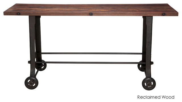 Bar Table Reclaimed Wood Top Eclectic Indoor Pub And Bistro Tables
