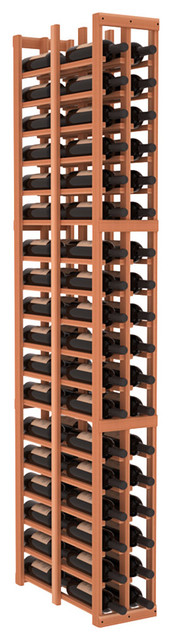 2 Column Double Deep Cellar in Redwood, (Unstained) contemporary-wine-racks