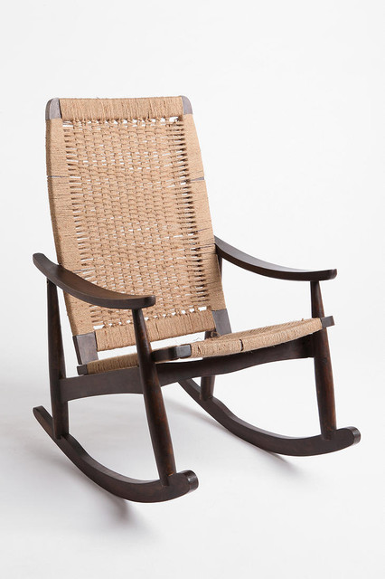 Woven Rocker Chair traditional-rocking-chairs