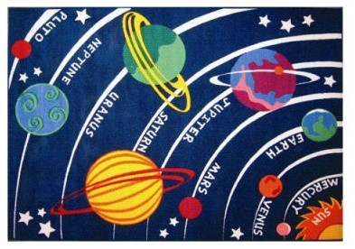 L.A. Rugs Solar System Kids Area Rug modern-rugs
