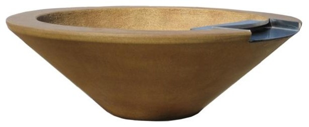 Essex Manual 1-Bowl Grand Effects Concrete Fire & Water Bowls mediterranean-fire-pits