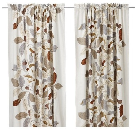 IKEA STOCKHOLM BLAD Pair of curtains modern-curtains