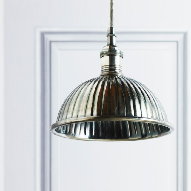 Round Metal Shade Modern Pendant Lighting By Graham And Green