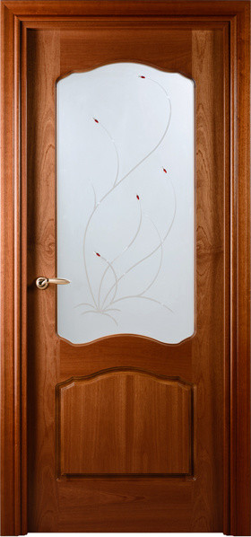Prefinished Interior Single Door African Sapele Veneer Frosted glass contemporary interior doors