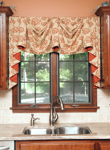 Colorful kitchen curtains home design and decor reviews - Modern valances for kitchen ...