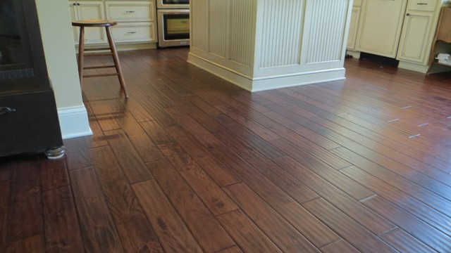 Toast Brown Hand Carved/ Solid Prefinished traditional-hardwood-flooring