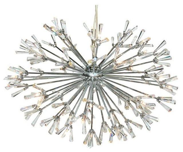 Moderne Starburst Chandelier Chandeliers by Chairish