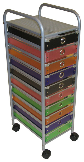4D Concepts 10-Drawer Rolling Storage in Multi Color Drawers - Modern - Storage Cabinets - by ...