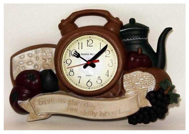 Daily Bread Kitchen Wall Clock