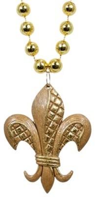Gold Leaf Fleur de Lis Necklace eclectic-holiday-decorations