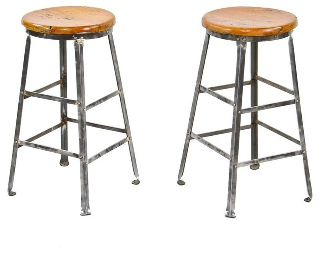 Industrial stools industrial bar stools and counter for Industrial design bar stools