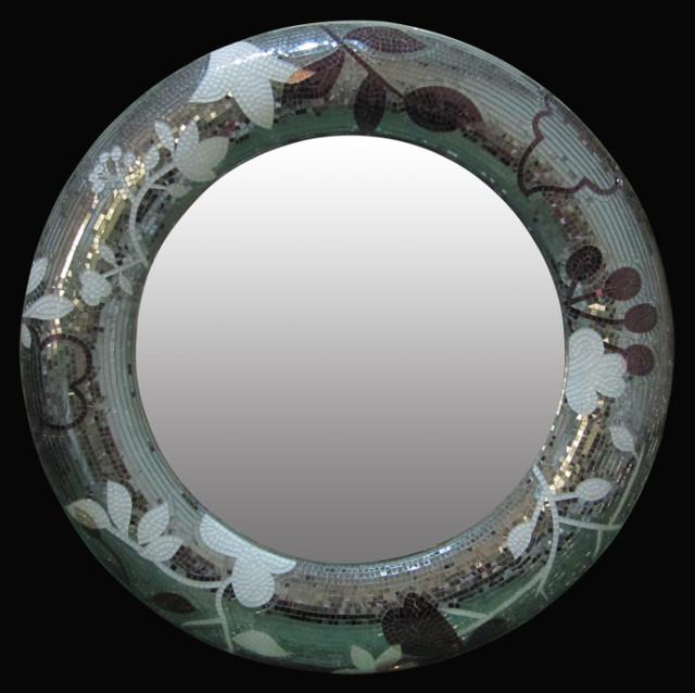 artistic mosaic mirror for bathroom modern