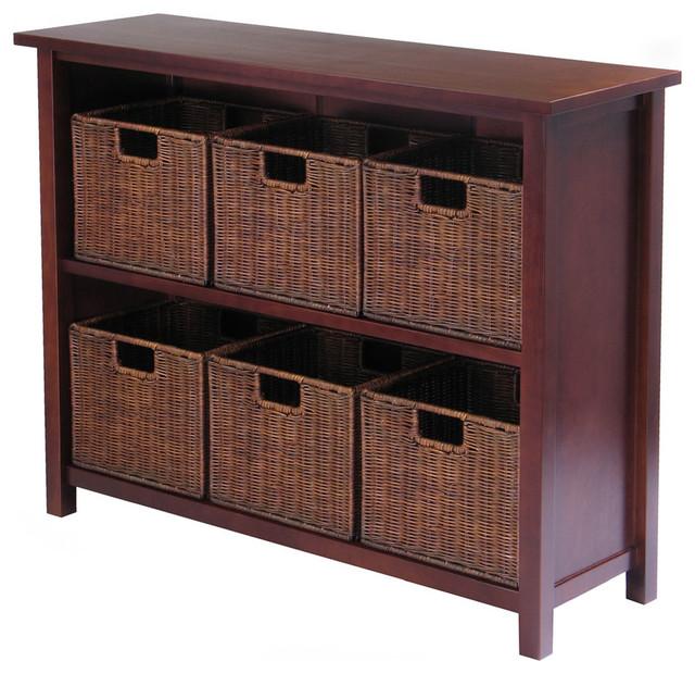 Milan 7pc Storage Shelf with Baskets modern-storage-units-and-cabinets
