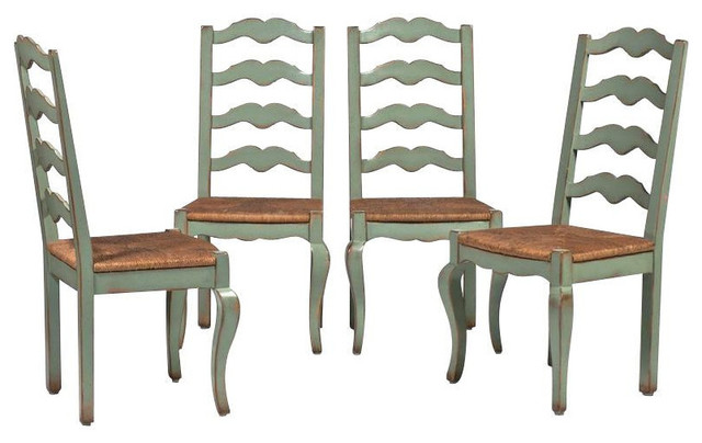 Set of 4 Ladderback Chairs from Woodland Furniture  : farmhouse dining chairs from www.houzz.com size 640 x 404 jpeg 55kB