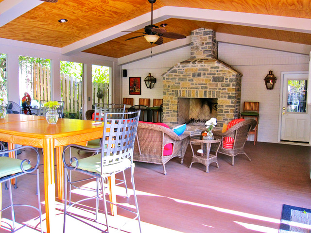 An Addition to a Private Residence in Wyoming, Ohio traditional-porch
