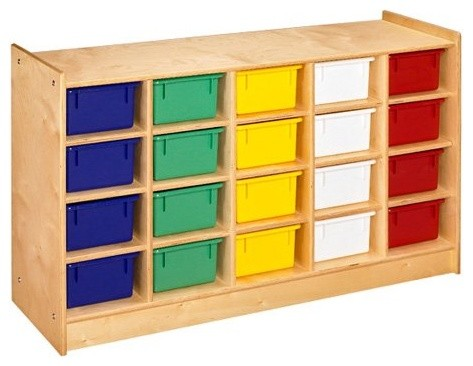 A & E 20 Tray Mobile Cubbie contemporary toy storage