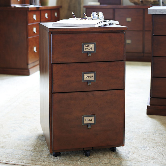 ... Drawer File Cabinet with Wood Top - Transitional - Filing Cabinets