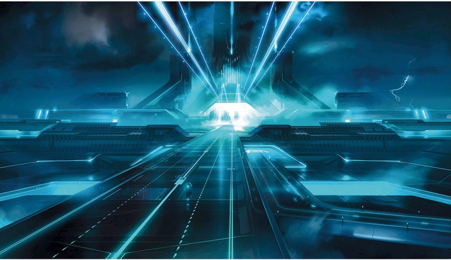 Tron legacy giant prepasted wallpaper accent mural - Legacy wallpaper ...