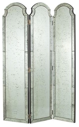 Arteriors Isabella Mirrored Room Screen traditional screens and wall dividers