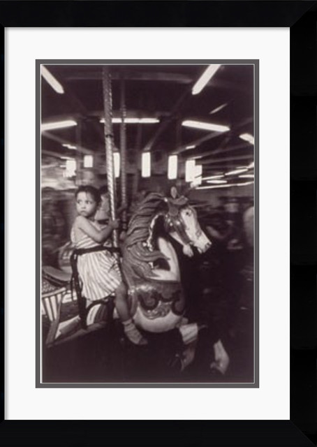 Merry-Go-Round, 1957 Framed Print by Harold Feinstein traditional-prints-and-posters
