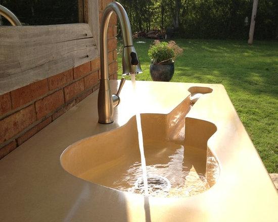 Custom Concrete Guitar Farm Sink -