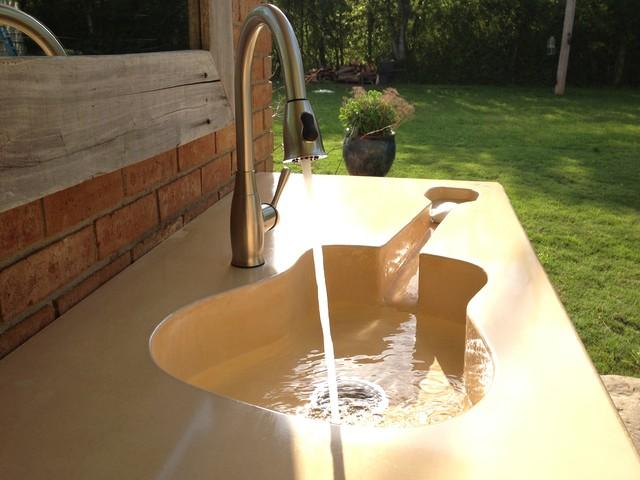 Custom Concrete Guitar Farm Sink - Modern - Bathroom Sinks - jackson - by Pearidge Concrete and ...