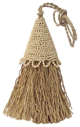 Vetiver Beaded Tassel Room Freshener - Contemporary - Curtains - by Connected Fair Trade Goods ...