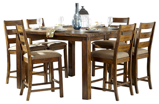 Counter Height Rustic Dining Table : ... Ronan Counter Height Table in Burnished Rustic rustic-dining-tables