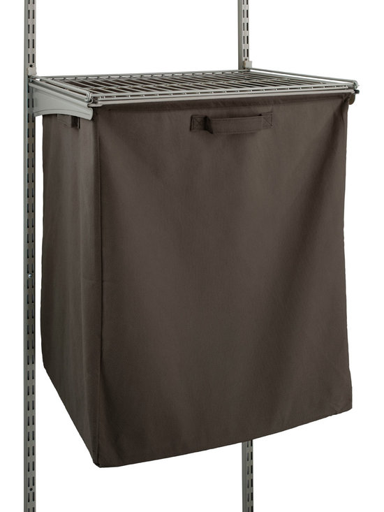 Fabric Hamper With Frame - This roomy non-woven fabric pull-out hamper unit attaches to ClosetMaid's�ShelfTrack�frame kit and standards or ClosetMaid's Basket System (sold separately). Comes pre-assembled.