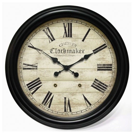 Large Metal Chester Clockmaker Gallery Wall Clock Modern Wall Clocks By