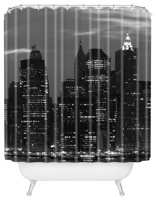 Leonidas Oxby New York Financial District Shower Curtain Contemporary Shower Curtains By