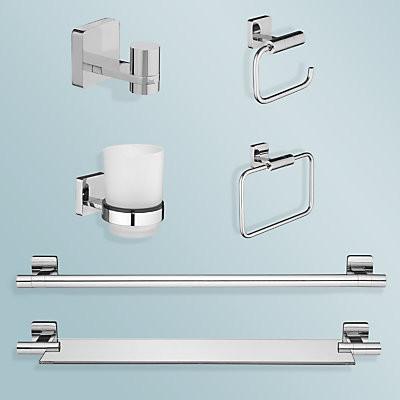 Bathroom accessories towel bars and hooks other metro by john lewis - Bathroom accessories towel bars ...