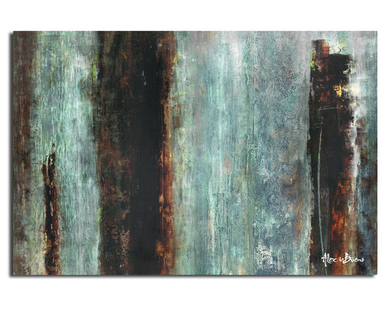 Ready2HangArt - Ready2HangArt Alexis Bueno 'Smash III' Oversized Canvas Wall Art - This abstract canvas art is the perfect addition to any contemporary space. It is fully finished, arriving ready to hang on the wall of your choice.