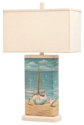 Kichler Marblehead 70832CA Table Lamp - 16.5 in. - hand-painted porcelain tropical-table-lamps