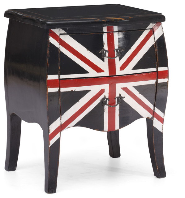Union Jack Small Cabinet Distressed Black contemporary-dressers-chests-and-bedroom-armoires