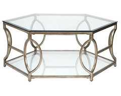 Brooke Hexagonal Coffee Table contemporary coffee tables