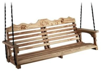 Beecham Swing Co. Deluxe Wildlife Series 5ft. Treated Wood Porch ...