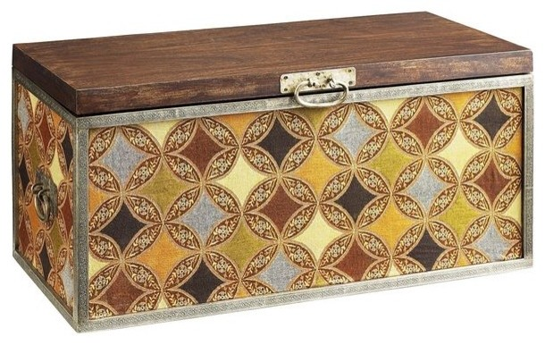 Surat trunk eclectic decorative trunks by pier 1 imports - Decorative trunks and boxes ...