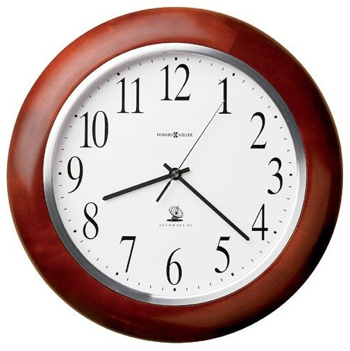 Howard Miller Murrow 13.75 inch Atomic Wall Clock contemporary clocks