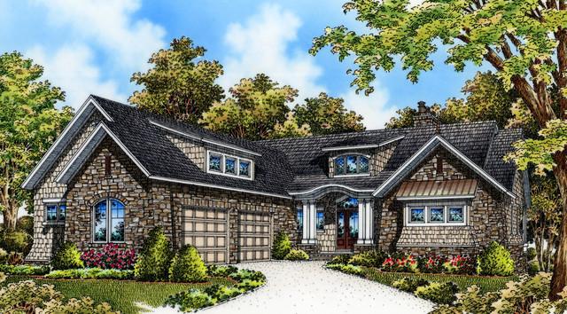 Plan #5046 - The Asiago Ridge traditional-rendering