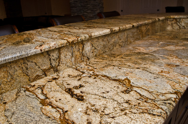 Golden Crystal Granite modern-kitchen-countertops