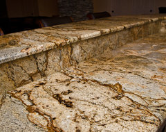 Golden Crystal Granite modern kitchen countertops