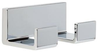 Liberty Hardware 77736 Vero - Delta 4 Inch Hook - Polished Chrome modern-towel-bars-and-hooks